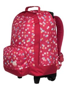 Roxy Girls Rainbow Wheeled School Backpack