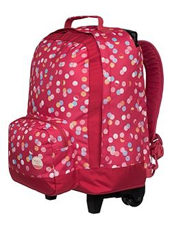 Girls Rainbow Wheeled School Backpack