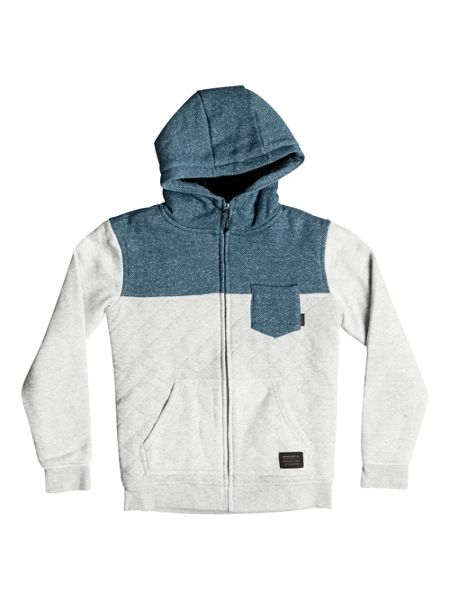 Quiksilver Boys Best Trip Quilted Zip Up Hoodie