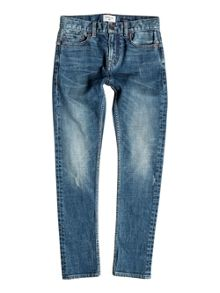 Quiksilver Boys Low Bridge Blue Damaged Jeans