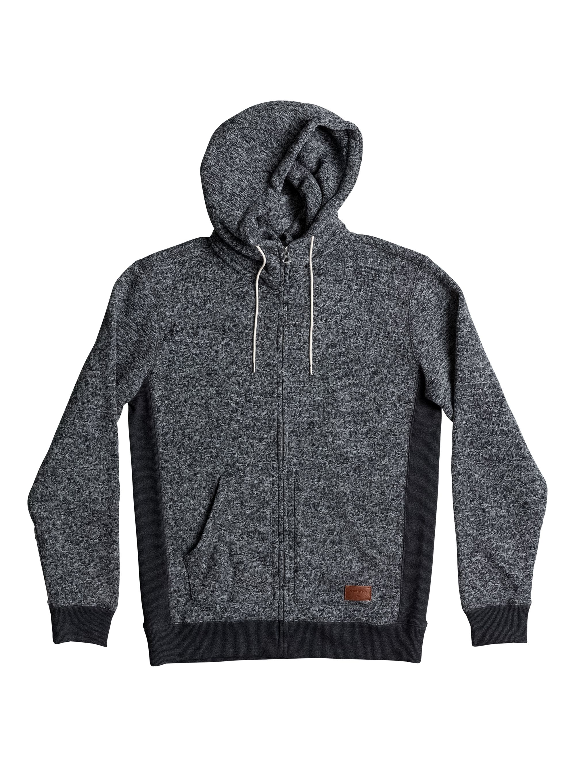 Men's Quiksilver Quiksilver Keller Zip-Up Fleece Hoodie, Charcoal