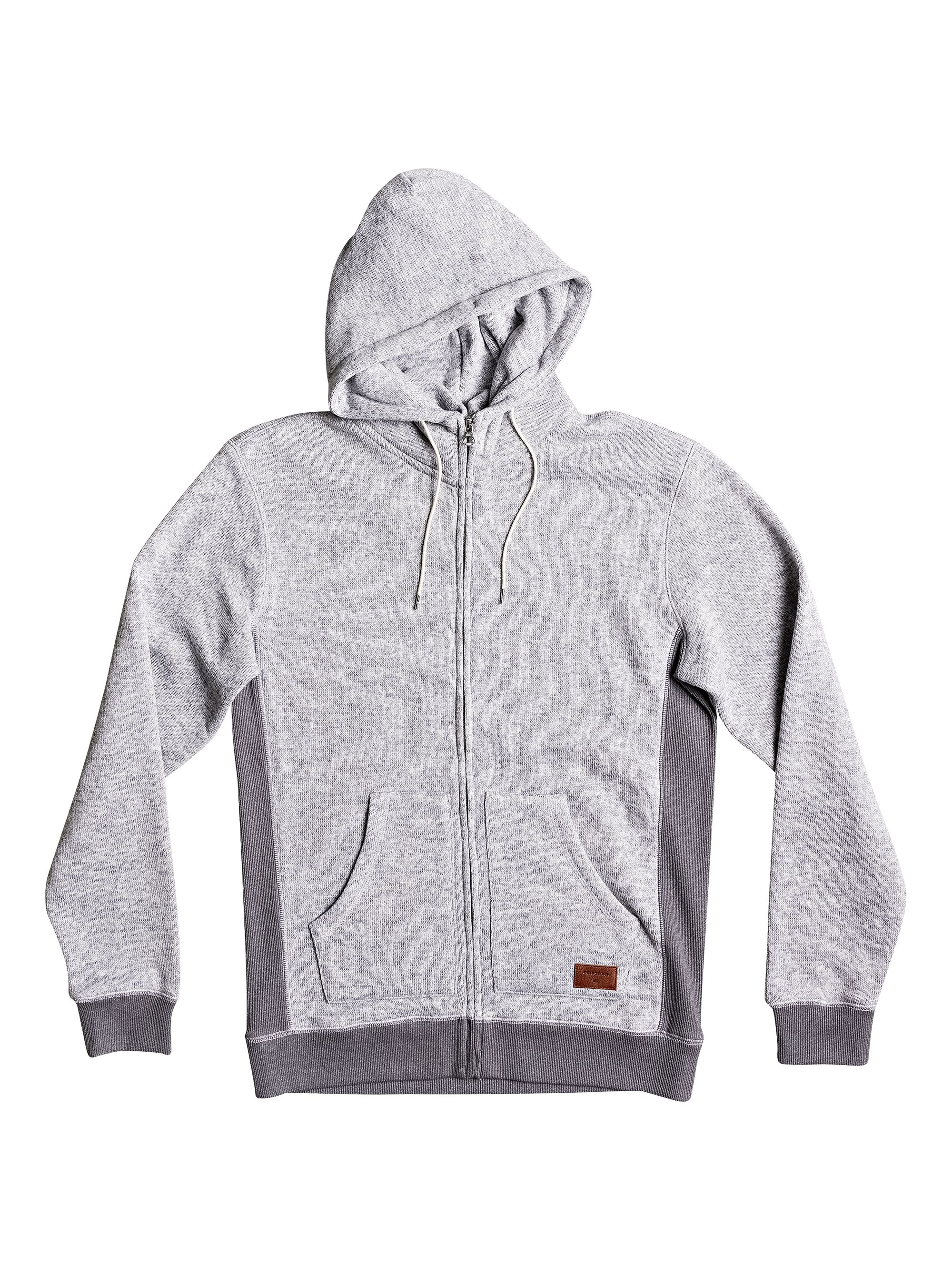 Men's Quiksilver Quiksilver Keller Zip-Up Fleece Hoodie, Grey