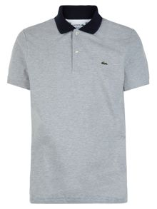 Lacoste Contrast Collar Colour Block Polo