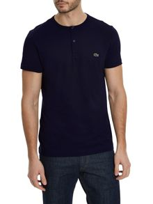 Lacoste Buttoned crew neck cotton t-shirt