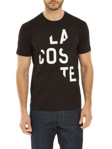 Lacoste Crew neck t-shirt with offbeat print