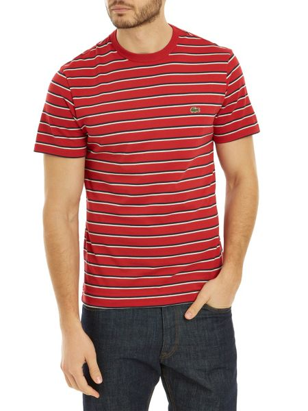 Lacoste Crew neck t-shirt in striped jersey