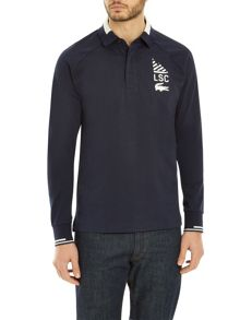 Lacoste Long-Sleeve Rugby Shirt in LSC Print