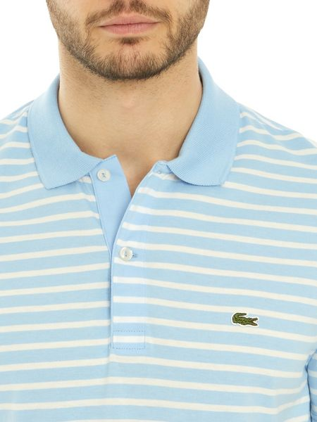 Lacoste Regular Fit Polo in Striped Jersey