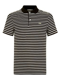 Regular Fit Polo in Striped Jersey