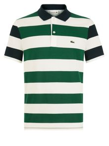 Lacoste Striped Fine Pique Polo