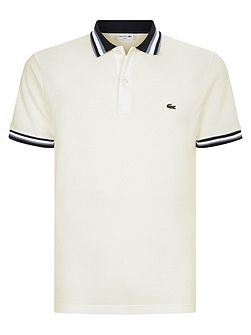 Slim Fit Polo With Three-Tone Stripe