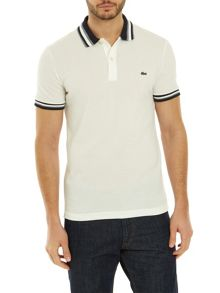 Lacoste Slim Fit Polo With Three-Tone Stripe