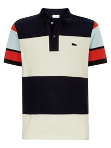 Lacoste Made In France Striped Piqué Polo