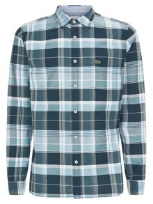 Lacoste Regular Fit Shirt in Check Poplin