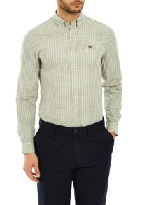 Lacoste Slim Fit Button Down Check Shirt