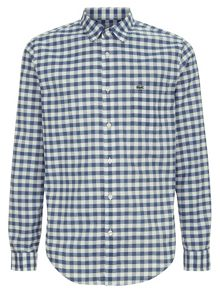 Lacoste Regular Fit Gingham Poplin Shirt