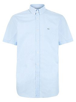 Men's Lacoste Short Sleeved Fine Micro Striped Shirt