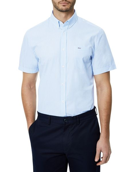 Lacoste Short Sleeved Fine Micro Striped Shirt