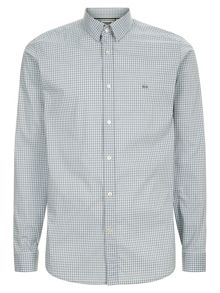 Lacoste Slim fit shirt in finely checked poplin