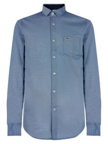 Lacoste Regular Fit Shirt in Piqué Jacquard