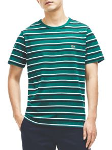 Lacoste Lacoste Crew Neck Striped T-Shirt