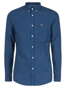 Lacoste Long Sleeved Slim Cotton Shirt