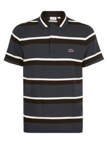 Lacoste Lacoste Short Sleeved Striped Polo Shirt