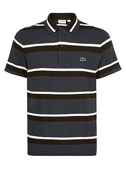 Short Sleeved Striped Polo Shirt