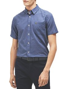 Lacoste Lacoste Short-Sleeved Checked Shirt