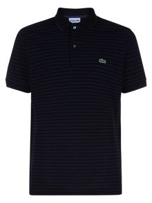 Lacoste Short Sleeved Striped Polo Shirt