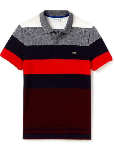 Lacoste Colour Block Striped Polo Shirt