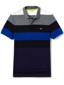 Lacoste Lacoste Colour Block Striped Polo Shirt
