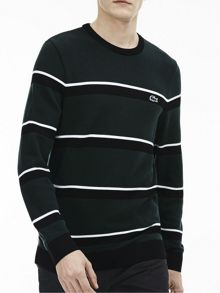 Lacoste Crew Neck Striped Wool Jumper