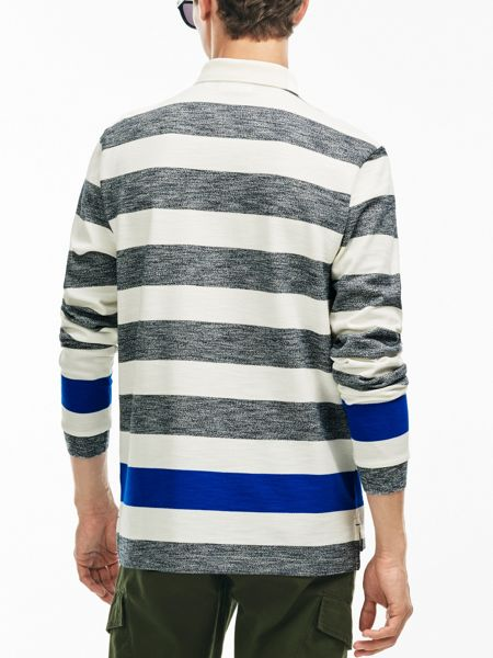 Lacoste Striped Cotton Rugby Shirt