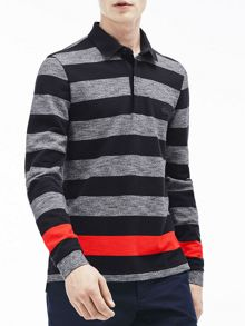 Lacoste Lacoste Striped Cotton Rugby Shirt