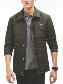 Lacoste Lacoste Quilted Button Down Jacket