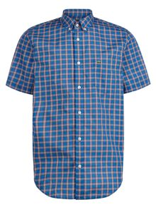 Lacoste Short Sleeved Check Shirt