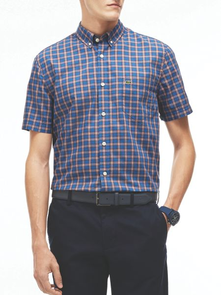 Lacoste Lacoste Short Sleeved Check Shirt