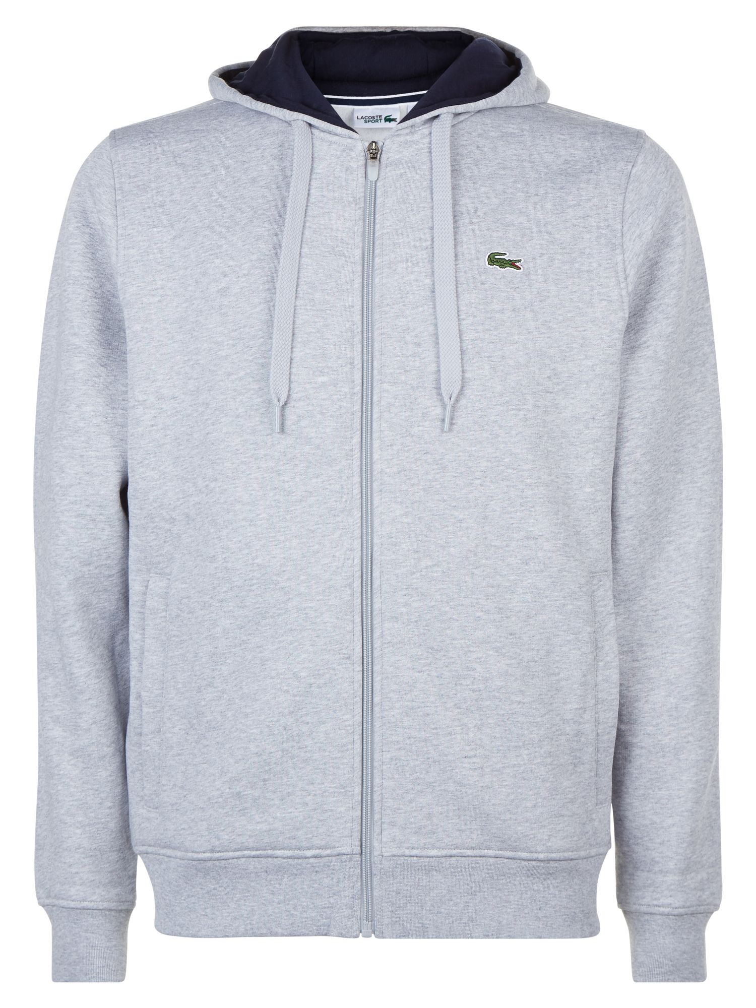 Men's Lacoste Lacoste Hooded Fleece Sweatshirt, Urban Grey