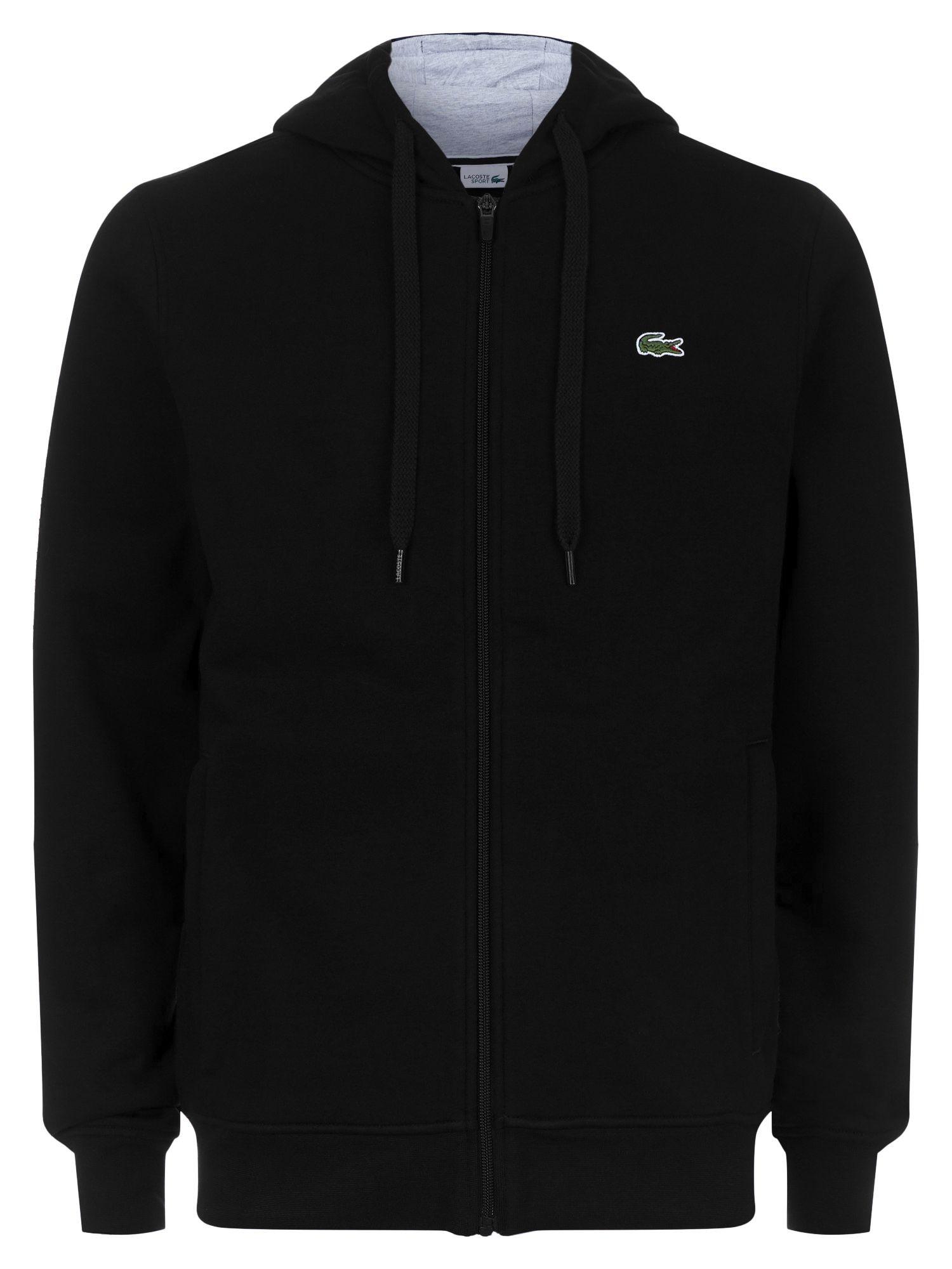Men's Lacoste Lacoste Hooded Fleece Sweatshirt, Black & Grey