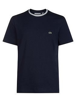 Crew Neck T-shirt With Contrast Collar