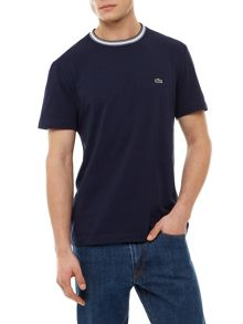 Lacoste Crew Neck T-shirt With Contrast Collar