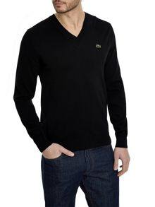 Lacoste V Neck Cotton Jumper