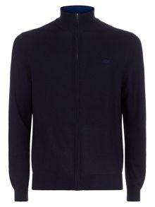 Lacoste Zip Through Knit Sweater