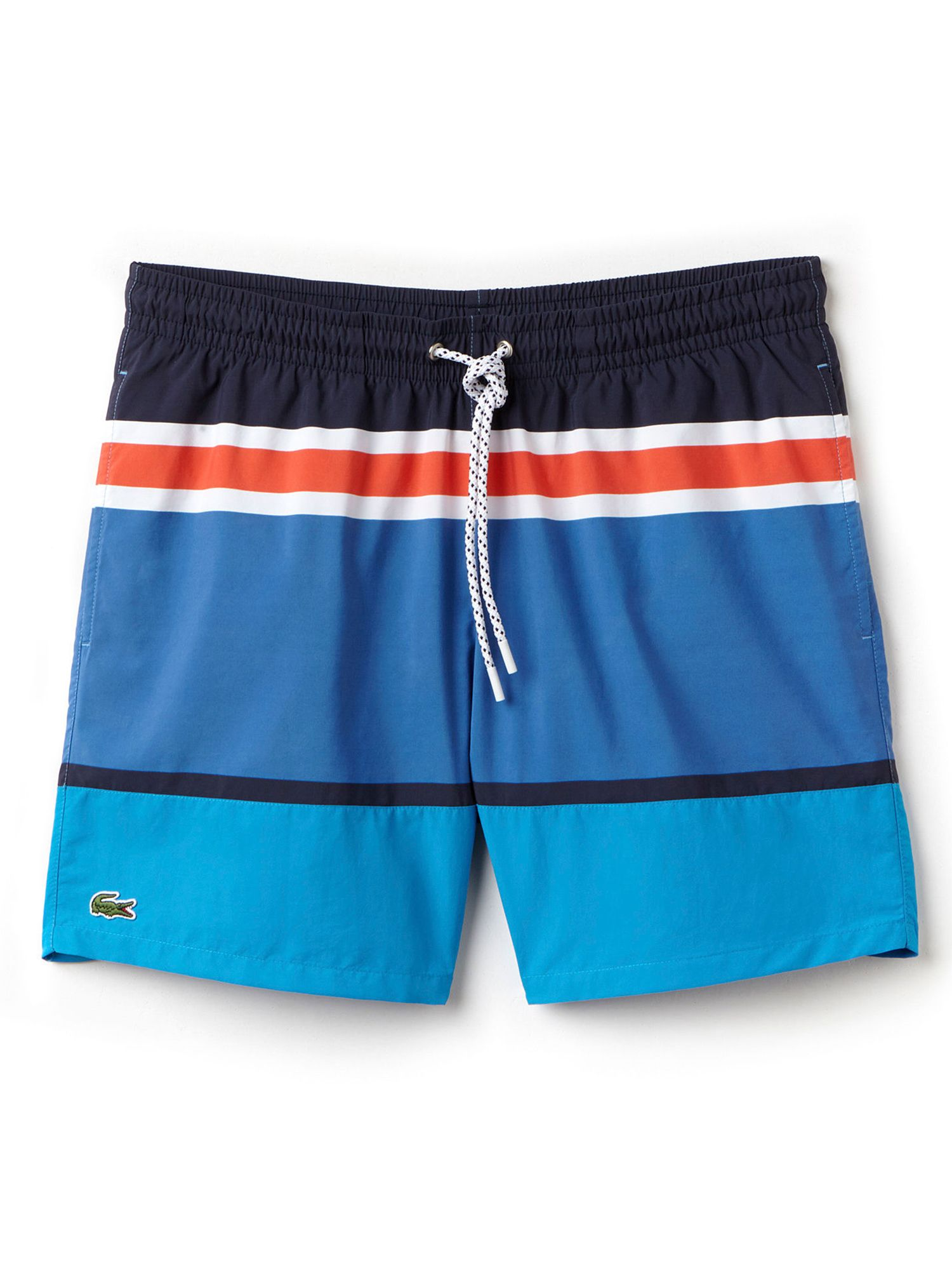 Mens Lacoste Colour Block Swim Shorts Vintage Blue