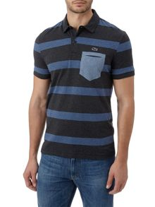 Lacoste Striped Jersey Polo Shirt