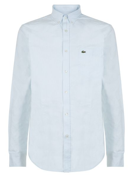 Lacoste Oxford Cotton Striped Regular Fit Shirt