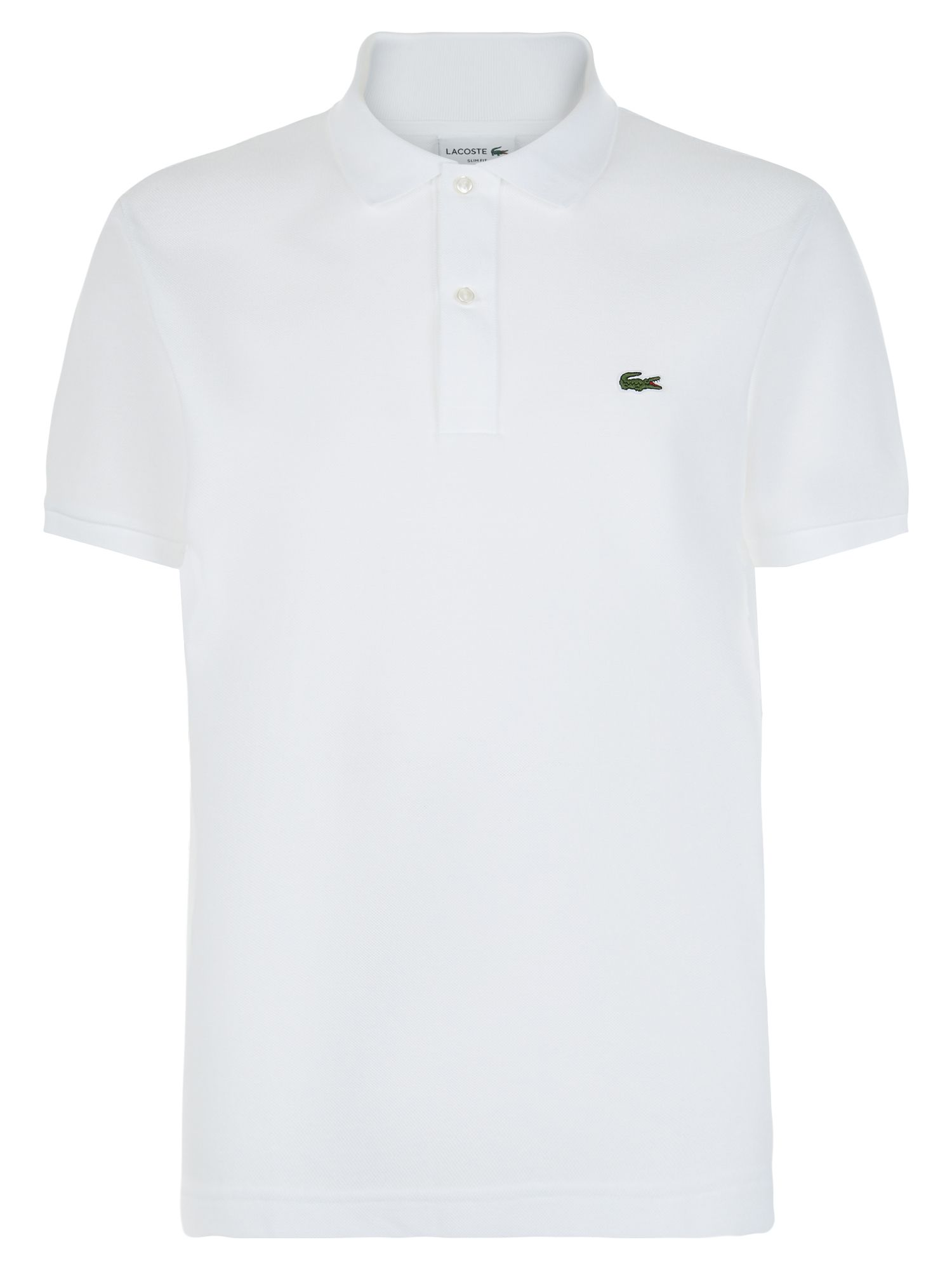 Men's Lacoste Slim Fit Polo in Pique, White