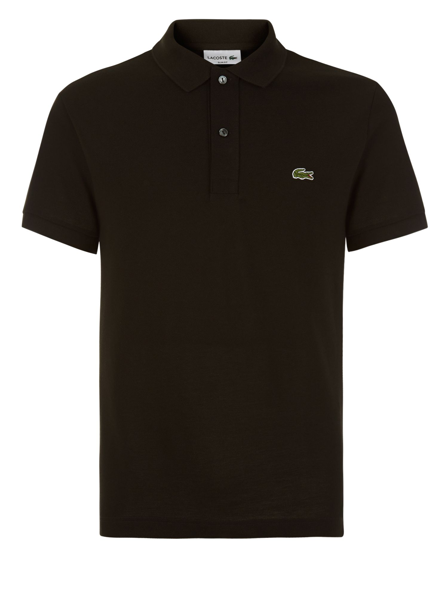 Men's Lacoste Slim Fit Polo in Pique, Black