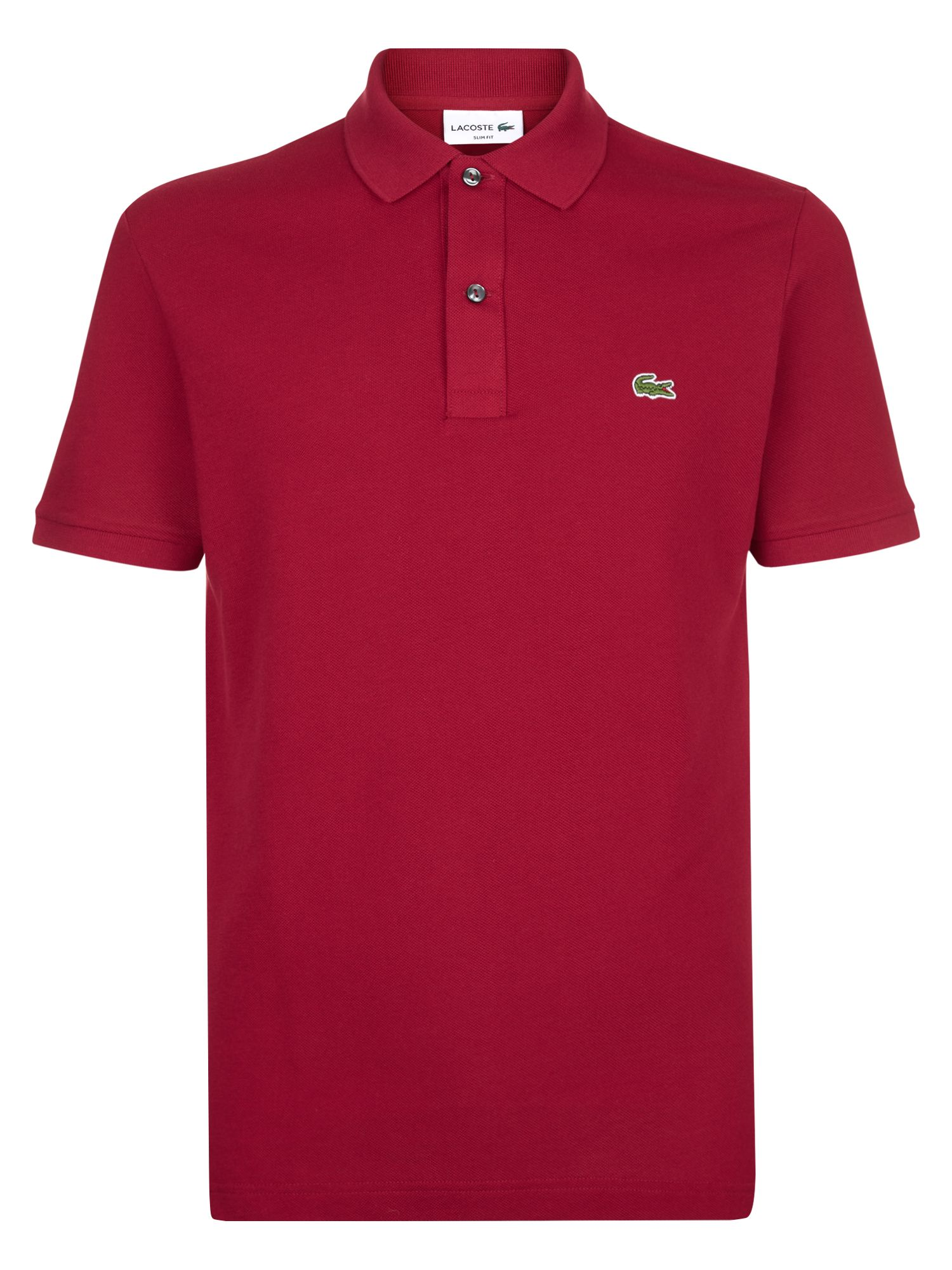 Men's Lacoste Slim Fit Polo in Pique, Red
